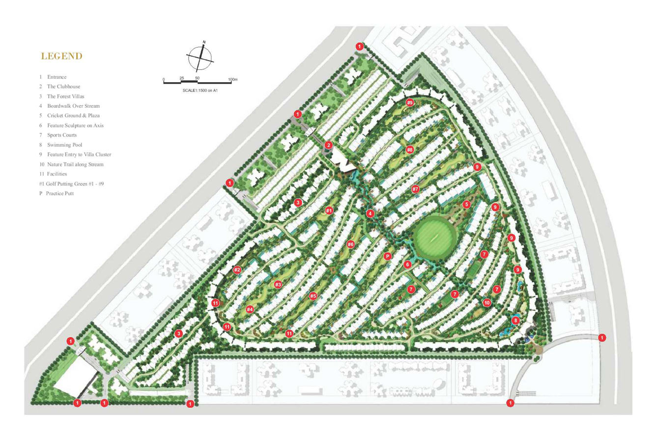 Rise Sports Villas site Plan