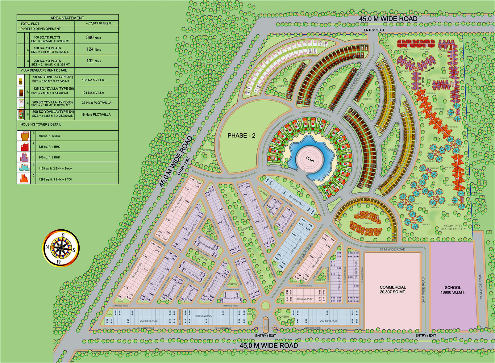 Supertech Up Country Villas Layout Plan